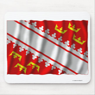 Alsace waving flag mouse pads