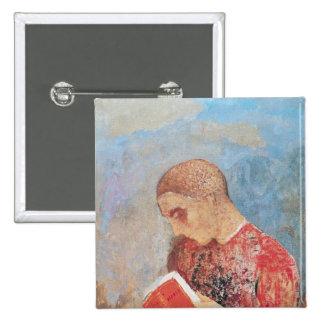 Alsacia o, lectura del monje, c.1914 pin cuadrado