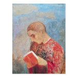 Alsacia o, lectura del monje, c.1914 postal
