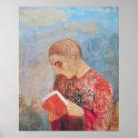 Alsacia o, lectura del monje, c.1914 póster