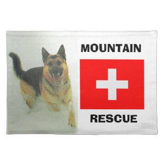 Alsatian, equipo de rescate de la montaña manteles