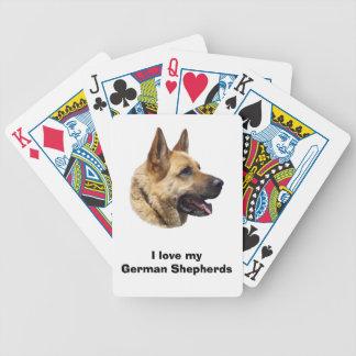 Alsatian German shepherd dog portrait Bicycle Playing Cards