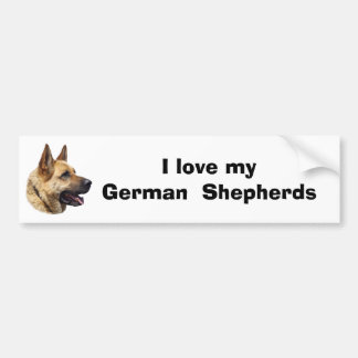 Alsatian German shepherd dog portrait Bumper Sticker