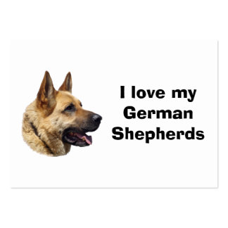 Alsatian German shepherd dog portrait Large Business Cards (Pack Of 100)