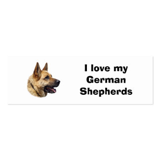 Alsatian German shepherd dog portrait Double-Sided Mini Business Cards (Pack Of 20)