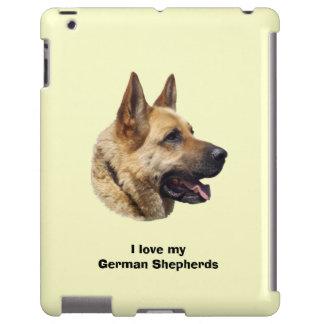 Alsatian German shepherd dog portrait