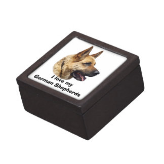 Alsatian German shepherd dog portrait Gift Box