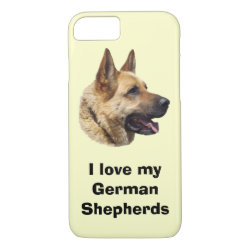 Case-Mate Barely There iPhone 7 Case with German Shepherd Phone Cases design
