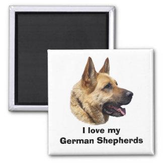 Alsatian German shepherd dog portrait Fridge Magnets