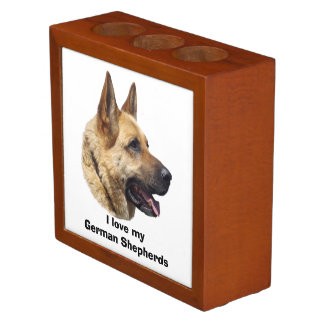 Alsatian German shepherd dog portrait Pencil/Pen Holder