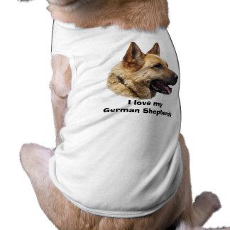 Alsatian German shepherd dog portrait Pet Shirt