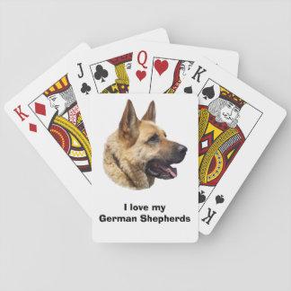 Alsatian German shepherd dog portrait Playing Cards