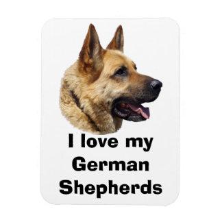 Alsatian German shepherd dog portrait Rectangle Magnets
