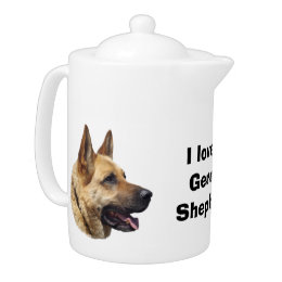 Alsatian German shepherd dog portrait Teapot