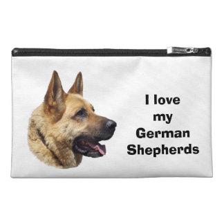 Alsatian German shepherd dog portrait Travel Accessories Bags