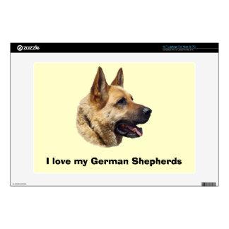 """Alsatian German shepherd portrait 13"""" Laptop Skin"""