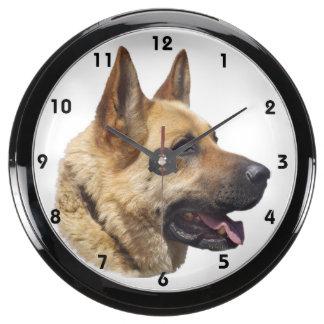 Alsatian German shepherd portrait Aquarium Clock