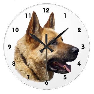 Alsatian German shepherd portrait Clocks