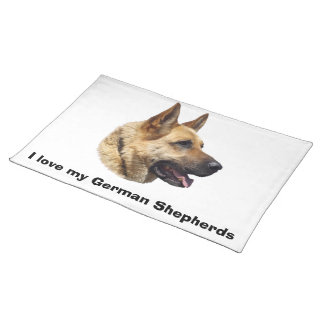 Alsatian German shepherd portrait Cloth Placemat