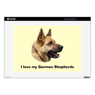 """Alsatian German shepherd portrait Decal For 15"""" Laptop"""
