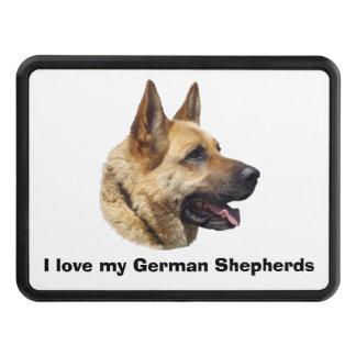 Alsatian German shepherd portrait Hitch Covers