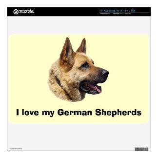 Alsatian German shepherd portrait MacBook Decals