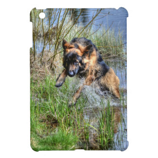 Alsatian Leaping from Water Animal-lover Dog Gift Case For The iPad Mini
