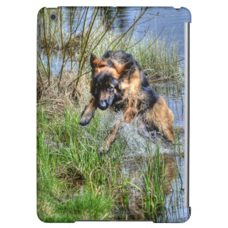 Alsatian Leaping from Water Animal-lover Dog Gift iPad Air Cases