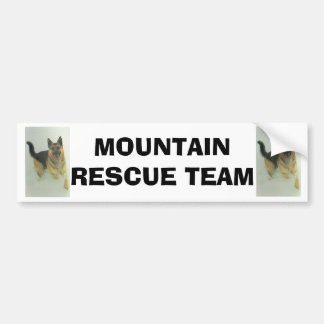 Alsatian, Mountain rescue team Bumper Sticker