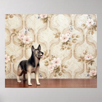 Alsation dog poster