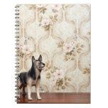Alsation dog spiral note book