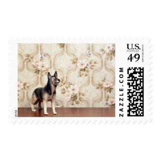 Alsation dog stamp