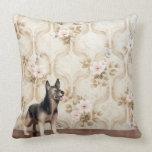 Alsation dog throw pillow