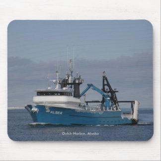Alsea, Fishing Trawler in Dutch Harbor, Alaska Mousepads