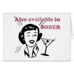 Also Available in SOBER - Drinking Retro Lady Greeting Card