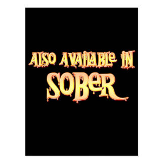 Also Available In Sober Postcard