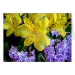 Alstremeria and  Lilacs Card
