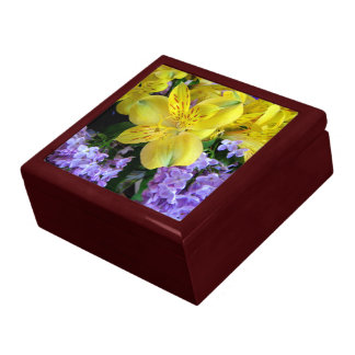 Alstremeria and  Lilacs Flower Gift Box