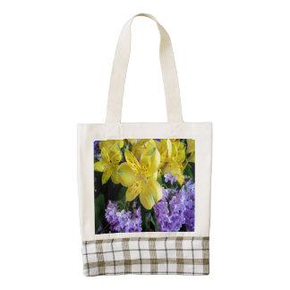 Alstroemeria and Lilac Zazzle HEART Tote Bag
