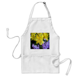 Alstroemeria and  Lilacs Flowers Adult Apron