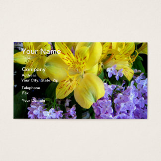 Alstroemeria and  Lilacs Flowers Business Card