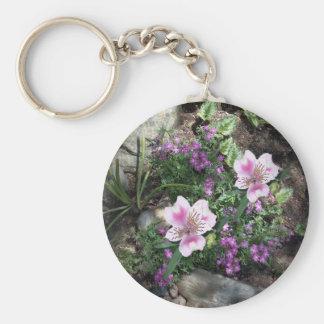 Alstroemeria Flowers Keychain