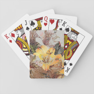 Alstroemeria Flowers Playing Cards