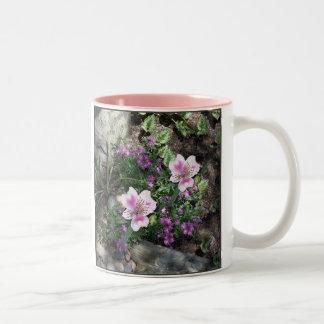 Alstroemeria Flowers Two-Tone Coffee Mug