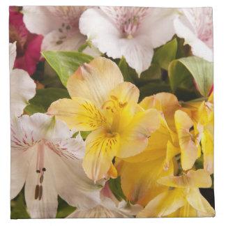 Alstroemeria (Peruvian Lily)Cloth Napkins
