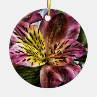 Alstroemeria Peruvian Lily flower custom ornament