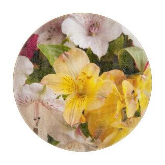 Alstroemeria (Peruvian Lily) Glass Cutting Board