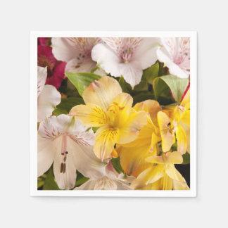 Alstroemeria (Peruvian Lily) Napkins Paper Napkin