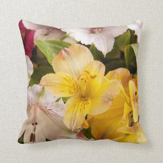 Alstroemeria (Peruvian Lily) Polyester Pillow