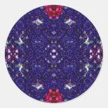 Alstroemeria Round Sticker